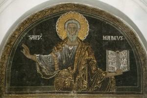 San Matteo, mosaico XIII sec., Salerno, Duomo